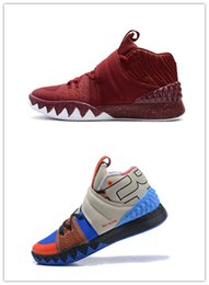 Wholesale High Heel Platform Sneakers - New Kyrie S1 Hybrid Basketball Shoes High Quality What The Kyrie Irving 4 Sneakers Multicolor Sports Shoes With Box size 7-12