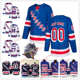 Wholesale Brands New York - Custom NEW Brand New York Rangers Hockey Jersey Stitched Any Number Name 2018 Winter Classic Navy Light Blue White Lundqvist McDonagh S-60