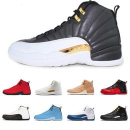 official photos 84e2c bf431 Air Jordan Retro 12 AJ12 Nike Neuer Designer 12 12s Mann Basketball Schuhe  Michigan WINGS Stiere UNC der Meister schwarz weiß Taxi Männer Sport  Sneaker ...