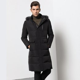 Wholesale Mens Jackets Canada - Jackets Men Winter Fashionable And Upscale Temperament Leisure Thicken Warm Winter Jackets Canada Long Mens Coat
