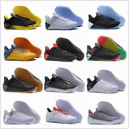 watch 01154 f04c4 2017 uomini Kobe 12 nero oro scarpe da basket economici viola Kobe XII  annuncio rosso bianco grigio blu Kobe 12s Elite basso Sport Sneakers