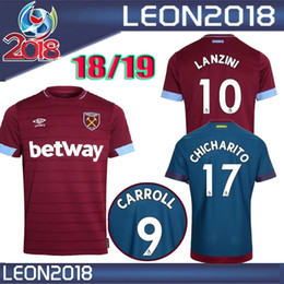 Wholesale quality ham - Thai quality 2018 2019 West ham united soccer jerseys 18 19 LANZINI CARROLL NOBLE CHICHARITO football jersey shirt