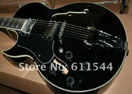Wholesale Left Handed Hollow Body - Black Semi-Hollow ES175 Left Hand Jazz Guitar Beauty Musical instruments From China