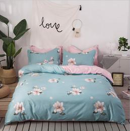Wholesale leopard print cotton duvet cover - Casual Bedding SetsHome Textiles Cotton Leopard Grain FLOWER 3D Bedding Sets King Size 4 Pcs of Duvet Cover Bed Sheet Pillowcase Bedclothes