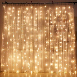 star lights window Promo Codes - 3*3M LED Window Curtain Icicle Lights 306 LED 9.8ft 8 Modes String Fairy Light String Light for Christmas Halloween Wedding