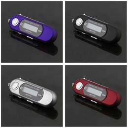 mini flash drive Desconto 2 PCS MP3 Player Mini USB 2.0 Flash Drive de Alta Velocidade de Exibição de LCD Música MP3 Player