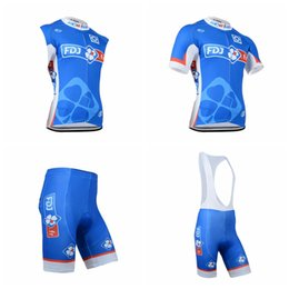Wholesale Woman Vest Xs Grey - FDJ team Cycling Short Sleeves jersey (bib) shorts Sleeveless Vest sets The latest summer Mountain Bike Quick Dry clothing Q50917