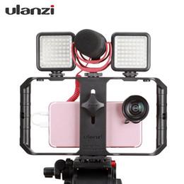 montare il telefono video Sconti Ulanzi U-Rig Pro 3 Supporto per scarpa Smartphone Video Rig Custodia per filmato Videocitofono per video stabilizzatore Impugnatura per montaggio su treppiede
