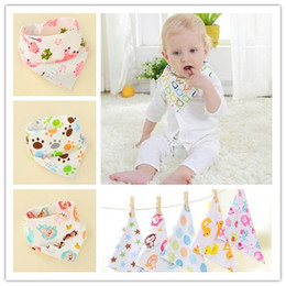 Wholesale Cartoon Scarves - Cartoon Printing Baby Burp Cloths Pure Cotton Infant Bibs Toddler Mouth Water Towel Many Styles free