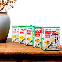 Wholesale Instax Camera Film - Instax White Film Intax For Mini 90 8 25 7S 50s Polaroid Instant Camera 20PCS set HHA6