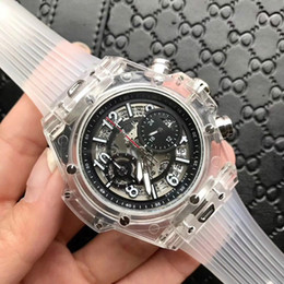 Wholesale Watch Skeleton Swiss - 2018 AAA Multiple time zones mens watches top brand luxury watch skeleton automatic men Mechanical Swiss Watch Sports Wristwatch