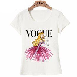 Shirt frauen prinzessin online-VOGUE punk prinzessin print T-shirt 2016 sommer mode frauen t-shirt lustige Harajuku kurzarm casual tees lovrly tops