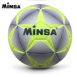 New Brand MINSA High Quality A++ Standard Soccer Ball PU Soccer Ball  Training Balls Football Official Size 5 and Size 4 bal 5ccc2c07ac120