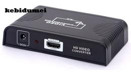 Cielo hdmi online-kebidumei HDMI al convertidor de euroconector Entrada HDMI + salida de euroconector Adaptador divisor de audio Para Blue Ray DVD STB SKY TV