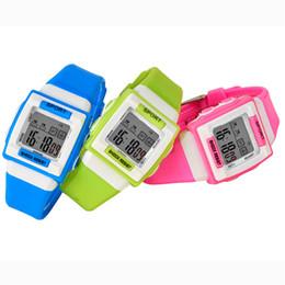 reloj de caramelo resistente al agua Rebajas SB0020 Relojes para niños Reloj de pulsera digital Luminoso Resistente al agua Relojes para niños Color caramelo Deportes multifuncionales W