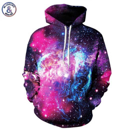 Wholesale Thin Cotton Winter Hat - New Men Women 3d Sweatshirts With Hat Digital Print Space Galaxy Hooded Hoodies Autumn Winter Thin Hoody Tops