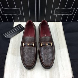 Wholesale Elegant Oxford Shoes - 2018quali Goodyear handmade shoes, this elegant lace-up combines plain calf leather with Epi-embossed ,calf leather free shipping size:4-10