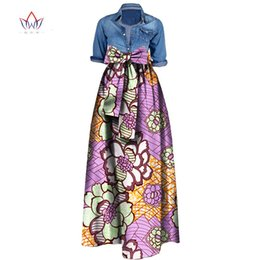 Wholesale Long Red Cotton Skirts - Summer Woman Long Maxi Skirt for Women African Dashiki for women Bazin riche robe longue femme Plus Size Skirt natural wy1036