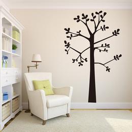 2019 vivaio paesaggistico Large Tree Wall Sticker Nursery Camera dei bambini Foresta Paesaggio Pastorale Albero Ramo Foglie Adesivo Camera da letto Soggiorno in vinile vivaio paesaggistico economici