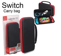 Cajas de juegos nintendo online-Para Nintendo Switch Game Bag Estuche de transporte duro de EVA shell de alta calidad bolsa de transporte portátil bolsa de bolsa protectora interruptor dhl