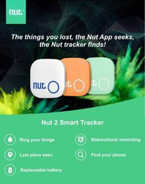 etiqueta bluetooth Rebajas Micro Mini Inteligente Buscador Inalámbrico Bluetooth Tracer Localizador GPS Etiqueta de Seguimiento de Alarma para Niño Nut 2 Pet Dog Tracker Para Android iPhone