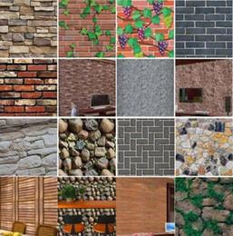 paesaggistica naturale Sconti 3D Wallpaper Brick Stone Effetto rustico Adesivi murali autoadesivi Decorazioni per la casa in PVC Impermeabile anti-muffa PVC ecologico