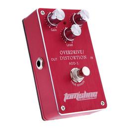 Effet pédale pour basse en Ligne-Guitare électrique Overdrive Bass Distortion Effect Pedal True Bypass Aroma AOD-1