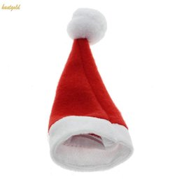 Wholesale Table Cutlery - Christmas Santa Claus Hat Cutlery Knife Fork Bag Holder Table Place Decoration