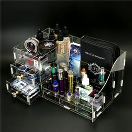 cuadro mod se encuentra Rebajas Demon Killer Storage Box Display Showcase Soporte Shelf Holder Acrylic Material L Tamaño para Coil RDA Vape Mods