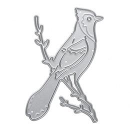Silber Niederlassungen Vogel Metall Stanzformen DIY Scrapbooking Schablone für Fotoalbum Dekoration Prägung Ordner Papier Karte Handwerk von Fabrikanten