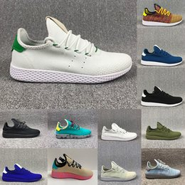Wholesale table runners gold - 2018 New arrive Pharrell Williams x Stan Smith Tennis HU Primeknit men women Running Shoes Sneaker breathable Runner Sports Shoes Size 36-45