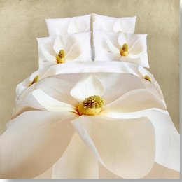 Wholesale Bedsheets Queen Size - High quality flower 3D Oil Painting Bedding set 4pcs Bedsheets 100%cotton Duvet cover set luxury bed linen sets Queen size
