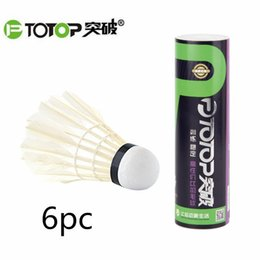 Wholesale Natural Goose Feathers - PTOTOP Badminton Shuttlecocks Ball Natural Goose Feather Badminton Training Ball Indoor Outdoor Sport Entertainment Free Ship