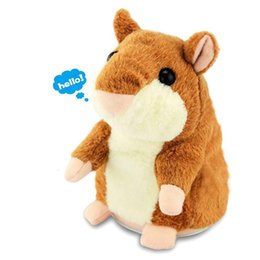 Wholesale Hamster Talk Toy - Talking Hamster Repeats What You Say The Cute Plush Animal Toy Electronic HamsterTalking Toys Mouse Pet Plush