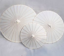 Wholesale Chinese Parasols Wholesale - 2018 bridal wedding parasols White paper umbrellas Chinese mini craft umbrella 3 Diameter:20,30,40cm wedding umbrellas