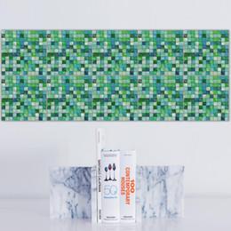 Wholesale wholesale black mosaic tile - 20 Pcs Kitchen Oil Stickers 3D DIY Decor Wall Stickers Creative Mosaic Tile Decorative