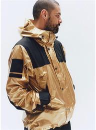 Casacos de moda de inverno on-line-Mens Fashion Designer Jaquetões Blusão Mens Roupa Reflectora Norte prata ouro Jackets Homme High Street Mens Jackets