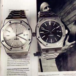 AAA Luxury Watch For Men Classic 42 millimetri cinturino in acciaio inossidabile di alta qualità movimento automatico da polso da uomo orologi Sapphire 15400ST orologi da uomo da
