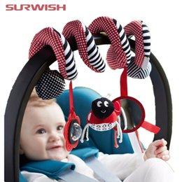 Wholesale activity spiral - Surwish Cute Infant Babyplay Baby Toys Activity Spiral Bed &Stroller Toy Set Hanging Bell Crib Rattle Toys For Baby