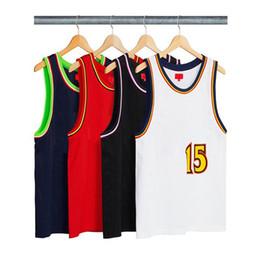 c198026a9f31 18SS Box Logo Bolt Basketball Jersey Vest T Shirt Luxury Men Women Street  Outdoor Sport Sleeveless Casual Summer Cool Tee Vest HFYMTX353