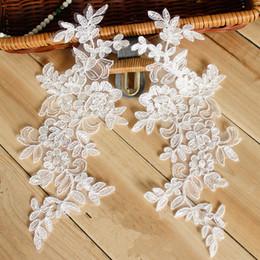 borda branca de renda bordada Desconto Material de retalhos de renda branco ouro laço bordado DIY Costura Lace Trim Quilt Headwear Accessorieswhite
