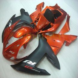 Pernos + personalizado naranja negro ABS Kit de carrocería de plástico para el artículo de la motocicleta para Yamaha YZF-R1 2002-2003 YZFR1 02-03 Fairing desde fabricantes