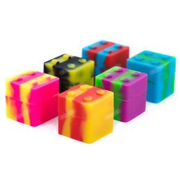 Deutschland Top-Qualität Großhandel quadratische Silikon-Behälter FDA Silikon Gläser Tupfer 11ml Antihaft-Silikon-Boxen für Wachsbehälter 30mmX30mm Versorgung