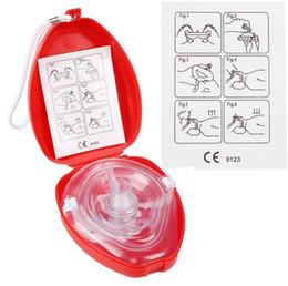 Одно здоровье онлайн-Первая помощь СЛР маска для защиты лица с односторонним клапаном для первой помощи обучение комплект новый дыхательная маска здоровье инструмент Бесплатная доставка