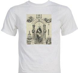Camisetas george online-George Washington como camiseta de la teoría de la conspiración de la masonería oculta del francmasón