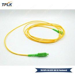 2019 3m fibra óptica 10pcs / lot SC-APC Simplex monomodo 3M fibra óptica patchcord LSZH rebajas 3m fibra óptica