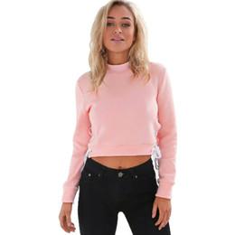 6f92a075be6 2017 Autumn And Winter Long-Sleeved Hoodies Open-Fledged Corrugated Sweatshirt  Crop Top Blouse Sweatshirt Pullover Jumper Hoodie
