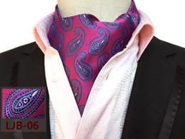2019 bufanda paisley morada Rose Red with Purple Paisley Unique Scarf Fashion Gentlemen Formal bufandas para decoración de cuello bufanda paisley morada baratos