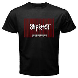 Canada Mode 2018 SummerNew Les gens Slipknot sont Sh * t Album Barcode Logo T-Shirt noir pour hommes Taille S-3XL O-Neck Streetwear Tees Offre