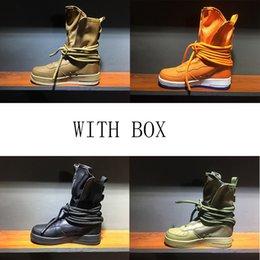 botas de campo Rebajas Nuevo Special Field SF High Boots Shoes Hombres Sport Sneakers Mujeres Cuero genuino High-top Boots Outdoor Casual Skateboard Shoes talla 36-45